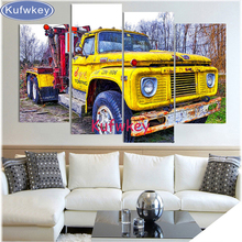 Full Square 3d Diamond mosaic 5D DIY Diamond Painting old truck 5pcs cars Embroidery Cross Stitch Rhinestone Painting home Decor