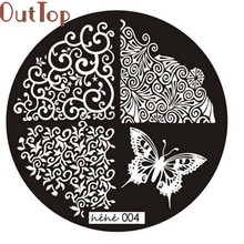 OutTop hot Cosmetics Pattern Nail Art Image Stamp Stamping Plates Manicure Template 004 DIY Nail 2017 May18(China)