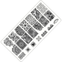 Hot 2017 Newest Design Nail Art Plate Stamp Stamping DIY Nail Polish Print Lace Flower Feather Manicure Nail Stencil Template