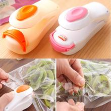 Vacuum Food Sealer Mini Portable Heat Sealing Machine Impulse Bag Sealer Seal Machine Plastic Bags Sealing Tools Pink Orange
