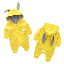 Buy Baby Rompers Cute Rabbit Baby Boy Clothes Hooded Newborn Clothes Cotton Jumpsuit Overalls Baby Girl Romper Outerwear for $14.80 in AliExpress store