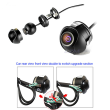 2017 Newest CCD Car Rear View Camera Front View Double To Switch Upgrade Section Parking Camera with 360 Degree Rotation