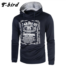 T bird hoodie Men Letter 3D printing Hip hop Sweatshirt fashion Mens hoodies 2017 brand Autumn Winter Cotton pullover male hoody(China)
