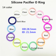 (20 color) 10pcs BPA free food grade silicone baby pacifier dummy mam adapter O rings for NUK Inner Diameter 21.5mm(China)