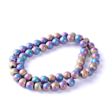 Top quality 8mm Natural stone matt multicolor round shape loose hematite beads for DIY jewelry necklace bracelet making