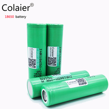 4PCS Colaier Original For Samsung 18650 2500mah battery INR1865025R 20A discharge lithium batteries, electronic cigarette Batte