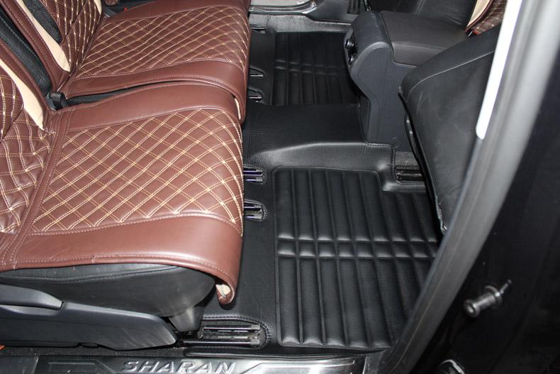 Connected Essentials CEM650 Car Mat Set for Sharan 2000-2010 Grey with Blue Trim Premium