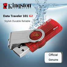 Original Kingston DT101G2 PenDrives 32GB USB 2.0 USB Flash Drive 64GB Pen Drives 16GB 8GB Memory Stick Plastic Mental Swivel(China)