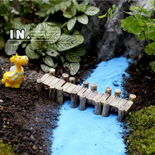 4pcs Resin craft micro garden Bridge pier home Decor lawn sculpture bulding Toys Eco bottle/ Succulent DIY accessories ornaments