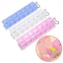Random Color New 7 Days Weekly Tablet Pill Medicine Box Holder Storage Organizer Container Case Pill Box FM88(China)