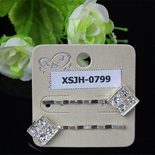 2 pieces/sets of fashionable women fashion jewelry stainless steel long hairpin crystal flowers The girl's birthday present 2015