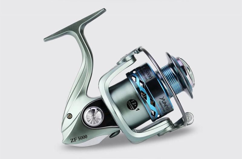 High Strength Aluminium Alloy Metal Head & Arm Spinning Fishing Reel 12+1BB Gapless Fishing Spinning Wheel Sea Fishing Tackle (7)