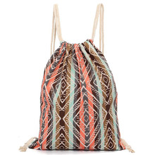 Unisex Retro Geometric Backpacks Printing Bags Drawstring Backpack mochilas feminina backpacks for teenage girls ladies