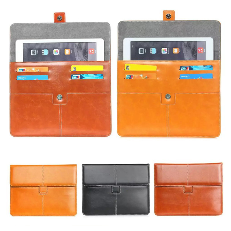 For Apple ipad pro 9.7 inch Leather Case Cover For Universal 9-10 inch Android Tablet Pouch bags w/ Cards Holder S2D48D<br><br>Aliexpress