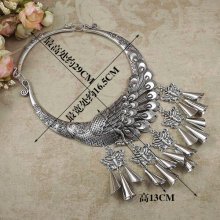 multiple styles can choose jewelry Collar peacock national wind seedlings silver big necklace butterfly Miao dance