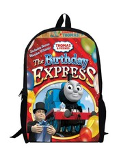 17inch little trains backpack custom made children Schoolbag 1 little trains and friends Kids Cartoon train bag men bags