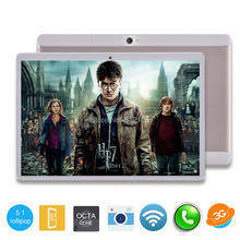 2017 Newest 10 inch Tablet PC Android 5.1 Phone call 8 Core 4GB RAM 32GB ROM 1280*1200 IPS 10 inch Kids Gift MID Tablets(China)
