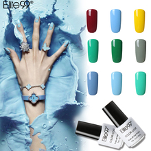 Elite99 Fashion 3 In 1 Nail Polish Colorful One Step 7ml LED UV Soak Off Gel Lacquer All Match Semi Permanent Nail Gel Polishes(China)