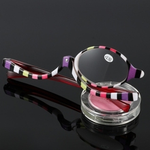 2017 Magnifying Glasses Makeup Cosmetic Reading Glass Folding Eyeglasses +1.5~+4.0    SEP14_30