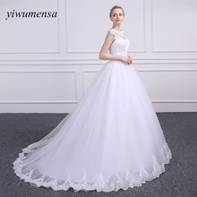yiwumensa Brand design vestidos de noiva wedding dresses 2018 Lace Appliques Bridal dress Ball gown wedding dress Lace-up gowns(China)