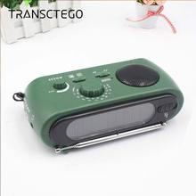 Sloar Hand-Cranked Solar FM / AM Radio Flashlight Multi-Function Radio Emergency Charger USB charger