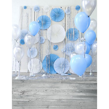 Buy Birthday party vinyl cloth balloon flower photography backdrops newborn children photo background studio fotografia portrait for $11.45 in AliExpress store