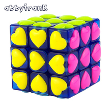 Abbyfrank Love Puzzle Magic Cube 3x3x3 Colorful Neo Cube Cubo Magico Puzzle Speed Classic Magic Toy For Children Learning Gift(China)