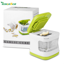LemonBest Mini Multifunctional Garlic Press Crusher Gadget Ginger Chopper Cutter Mincer Inbuilt with 2 Stainless Steel Blades(China)