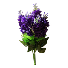 Silk cloth 5 Heads Artificial Flowers Handmade Wedding Decoration Wall Mounted Decorative Flowers(dark purple) flower head