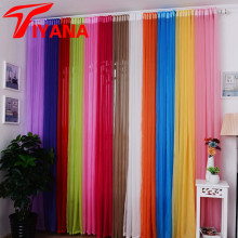 Hot Sale Rainbow Solid Voile Door Window Curtains Drape Panel Sheer Tulle For Home Decor Living Room Bedroom Kitchen Z15P184