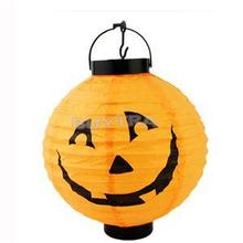 New Pumpkin Light Halloween Decoration Convenient Hanging Paper Lantern Lamp Outdoor Party Supplies(China)