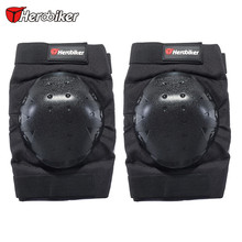2017 HEROBIKER Motorcycle Knee Supporter Elastic Sports Leg Knee Support Brace Wrap Protector Motorbike Knee Guards Kneepads(China)