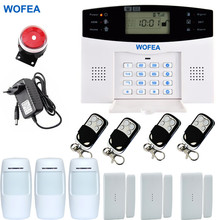 Wofea Wireless GSM Home Alarm System Russian and English Spanish French voice SMS GSM alarm system Free shipping(China)