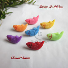 120 pcs/lot Shank mixed colorful fish animal button child craft button scrapbooking products fish buttons wholesale