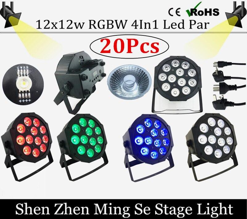 20pcs/lots  12x12w led  lamp beads  led Par lights RGBW 4in1 flat par led dmx512 disco lights professional stage dj equipment<br>
