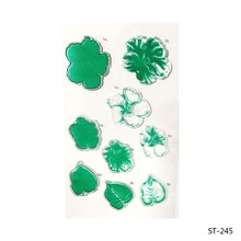 Green Flower Transparent Clear Silicone Stamp/seal for DIY Scrapbooking/photo Album Decorative Clear Stamp Sheets.(China)
