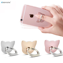 3PCS/LOT 360 Degree metal Car Grip Holder Stand Cat Finger Ring Metal Mount for iphone 7 all Smart Phone Luxury Couple Models(China)