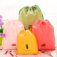 Waterproof Drawstring Pouch Tote Laundry Shoe Bag Laundry Travel Storage S M L(China)