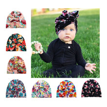 glittery sweet Infant Baby Boy Girl Hats Bowknot Knitted Cap Flower Bohemian Toddlers Warm Hat Fashion Multicolor Children Caps(China)