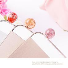 Luxury Glow Luminous Light Crystal beads Ball headphones earphone anti dust plug jack for iphone 6 plus 5s 4s for samsung