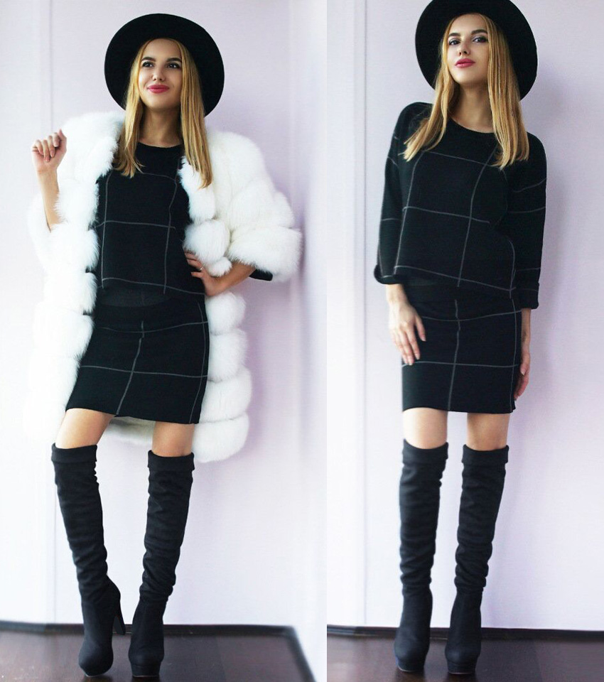 New Women's Boots, Sexy Fashion Over the Knee Boots, Sexy Thin Square Heel, Boot Platform Woman Shoes 31
