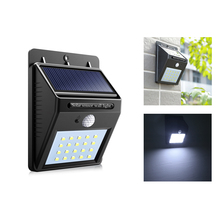 Solar Lamp 20 LEDs Street Lights PIR Motion Sensor Wall Lamps Waterproof CDS Night Sensor Garden Yard Home Security LED light(China)