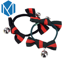 M MISM New Arrival Ribbon Bow Elastic Hair Bands Perfect Quality Striped Hair Accessories for Women Lovely Fine Scrunchy