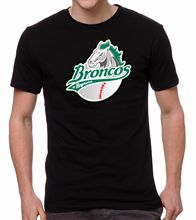 Tee Shirt Unisex More Size And Colors Broncos De Reynosa Baseball Men's T-shirt Crew Neck 100% Cotton(China)