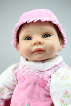 High Quality Babydoll Imported Mohair Doll Silicone Vinyl Toys Soft Cotton Body Children Birthday Present