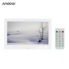 "Andoer 10.1"" HD Digital Photo Frame 800*600 LCD Multifunction Support Alarm Clock MP3 MP4 Movie Player with Remote Control"