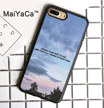 MaiYaCa Talk Me Down Troye Sivan lyrics Back Print Case for iPhone 8plus TPU Soft Rubber Cover for iPhone 8 plus Phone Bag(China)