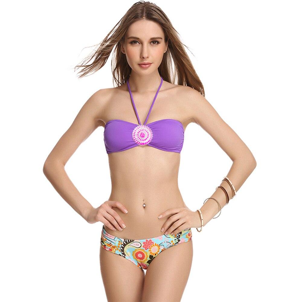 Palciy 16New Women Sexy Solid Color Swimwear Crystal Bikinis Diamond Beach Bikini Push UP Padded BRA Hot Swimsuit  359R-118-096<br><br>Aliexpress