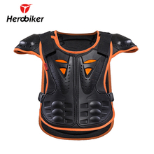 HEROBIKER Kids Body Motorcycle Armor Children Armor Vest Protective Suitable for 4-12 Age Skate Board Skiing Pulley Kids Jackets(China)