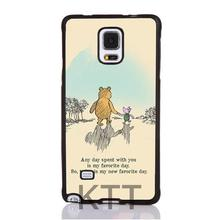 Carino Winnie The Poohs Stampato Pelle Morbida Tpu Nero cell phone bags case cover for 4S 5C 5S SE 6S 7 Plus IPOD Samsung SONY